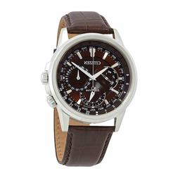 *BRAND NEW* Citizen Men's Eco-Drive Brown Dial Brown Leather
