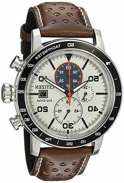 *BRAND NEW* Citizen Men's Eco-Drive Brown Leather Steel Case