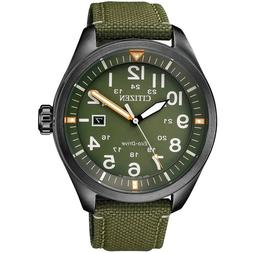CITIZEN AW5005-21Y Eco-Drive Casual Green Dial Nylon Band 10