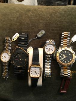 seiko and citizen mens and ladies brand new wrist watches as