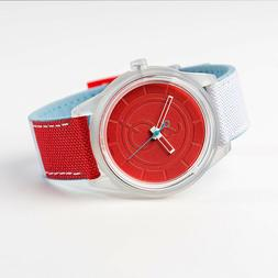 Citizen Q&Q Smile Solar Watch - Eco Drive - Red Dial x White