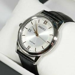eco silver dial gold accents men s