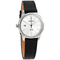 Citizen EU6070-01A Women's Black Leather Band with Silver An