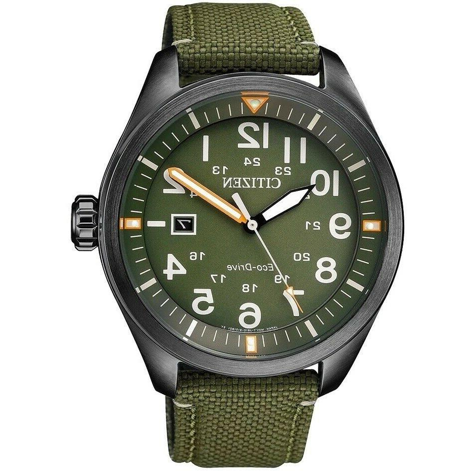 citizen aw5005 21y eco drive casual green