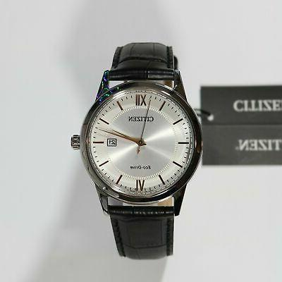 Citizen Silver Dial Gold Watch AW1236-11A