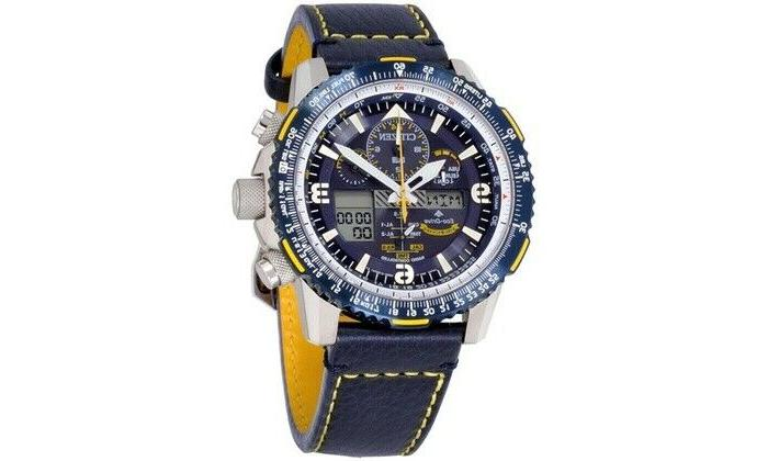 jy8078 01l eco drive blue leather promaster