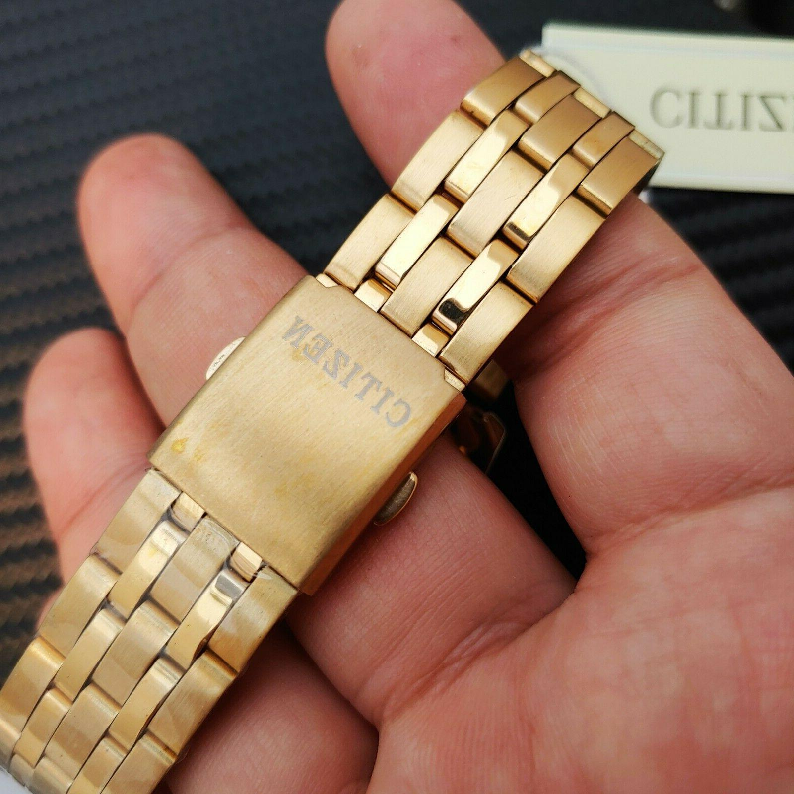 Luxury Citizen 24K Plated Red Dial Metal Watch