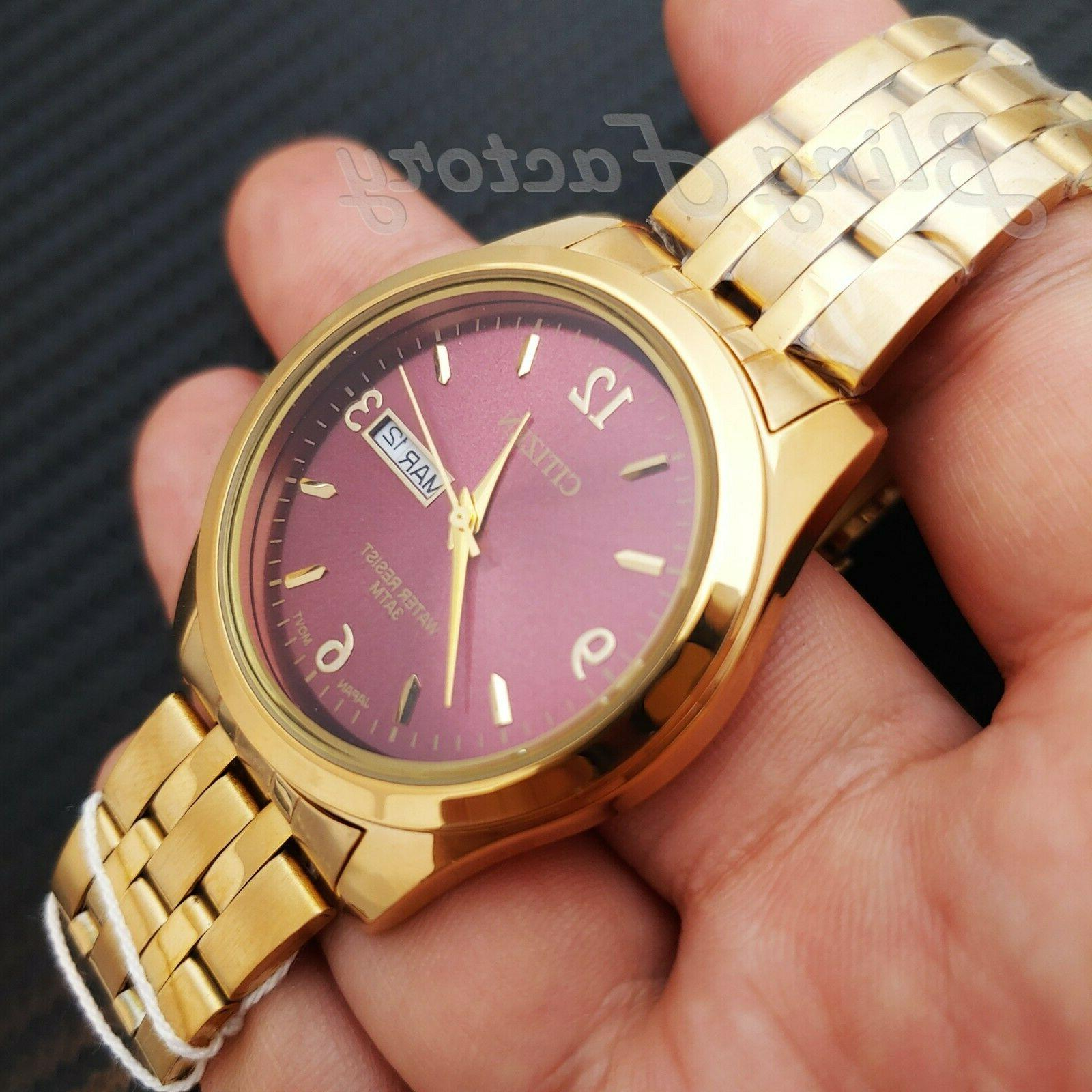 luxury 24k gold plated day and date
