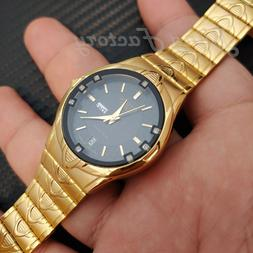 Luxury Citizen 24K Gold Plated Day & Date Stainless Steel An