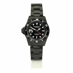 Man wrist watch AG Spalding Bros Diver 174432U900 black in s