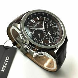 Men's Citizen Calendrier Multifunction Brown Leather 44mm Wa