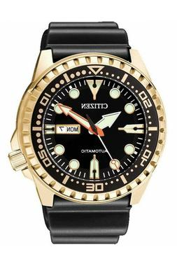CITIZEN Mens Automatic Self-Winding Rose Gold Diver Watch 10
