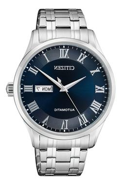 CITIZEN NH8360-80L Automatic Day Date Blue Dial Stainless St