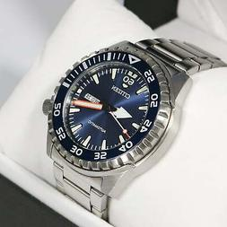 CITIZEN NH8389-88L Automatic Analog Day-Date Blue Dial Stain