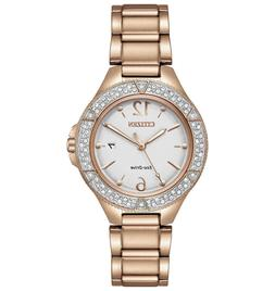 NWT Citizen Ladies FE1163-56A Eco-Drive Crystal Accented Sta