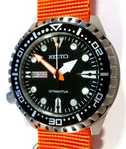Citizen Promaster Marine Sport Automatic 100M Watch - ORANGE
