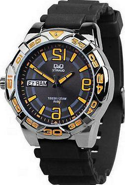 Q&Q	by Citizen A180J505Y Men's Analog Watch Black Resin Stra