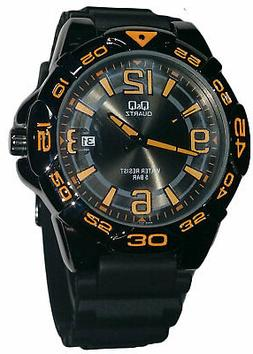 Q&Q	by Citizen A446J505Y Men's Analog Watch Black Resin Stra