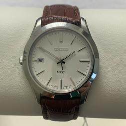 SEIKO MENS LEATHER BAND WATCH *NEW* SGEE41P2 R//$175