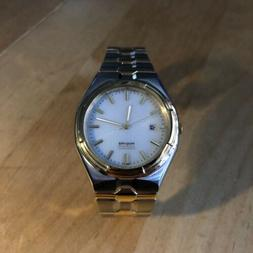 Watch Men's Citizen Eco-Drive WR 50 Silver and Gold Plated